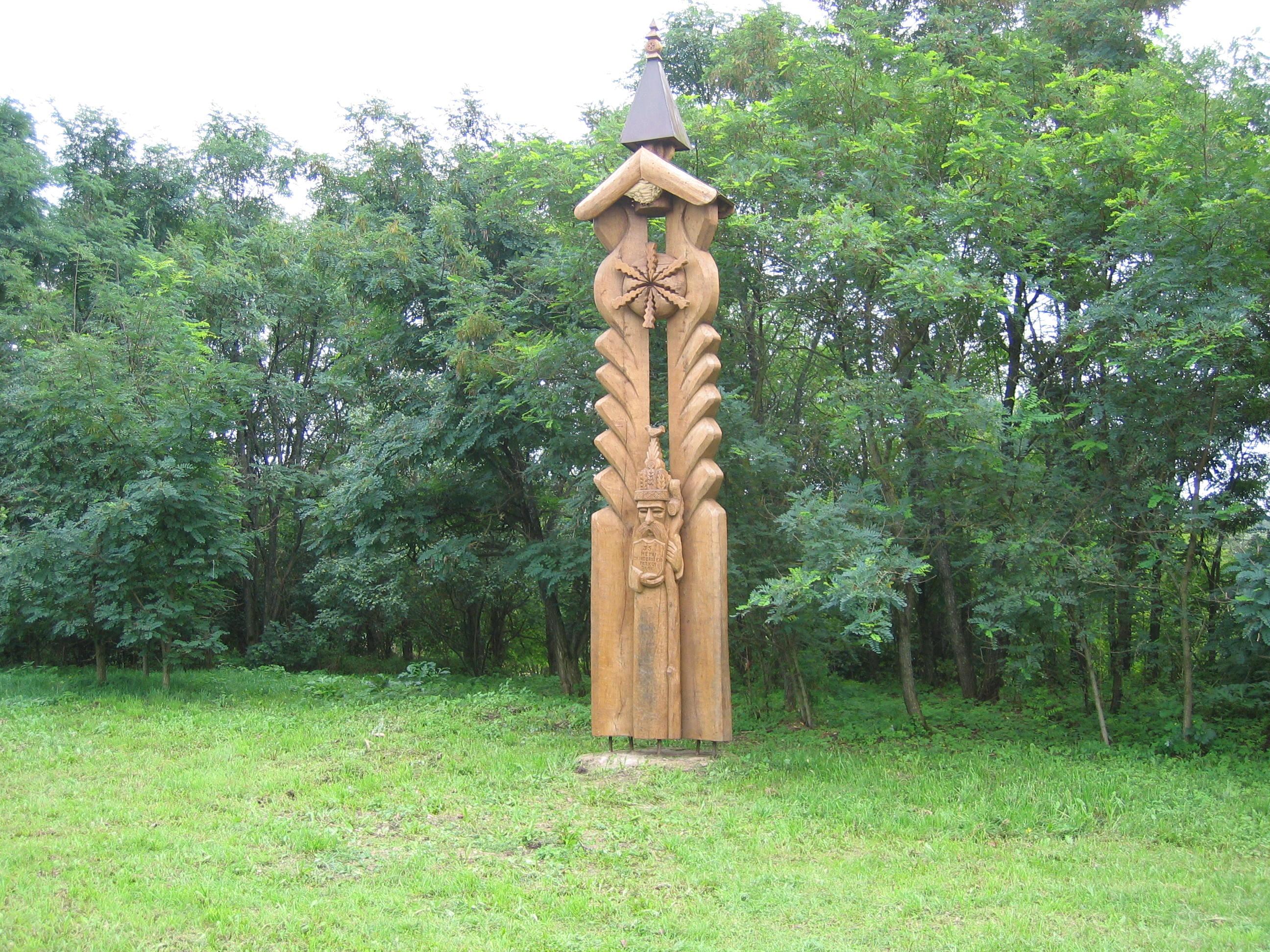 Simbolinė ąžuolo skulptūra dedroparko 35 mečiui pažymėti 1
