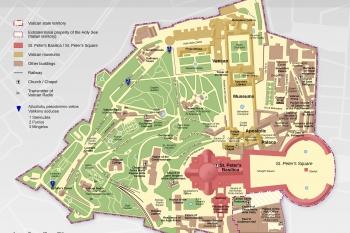 Girinas Vatikane Azuoliuku pasodinimo vietu schema